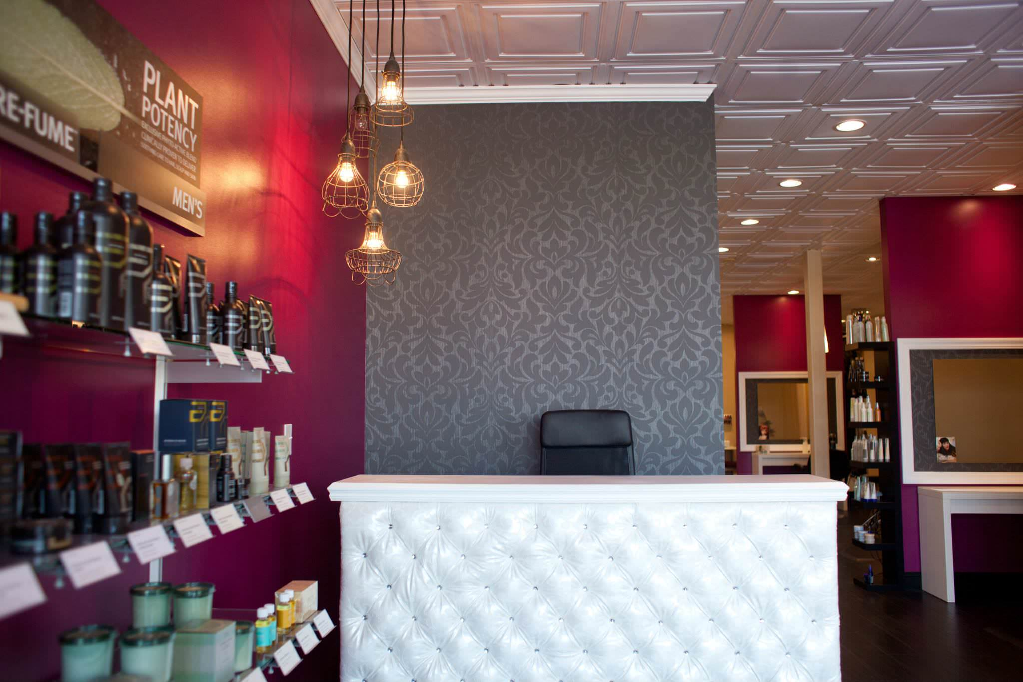 Front Desk Reception Area at Inspire Salon in St Charles